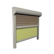 JAROLIFT Vorbaurollladen SiSoRoll PVC, Kasten viertelrund, 800 x 800 mm, grau