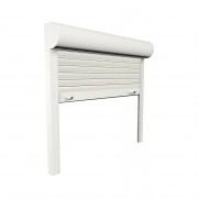 JAROLIFT Vorbaurollladen Basic ALU, Kasten halbrund, 400 x 400 mm, weiß