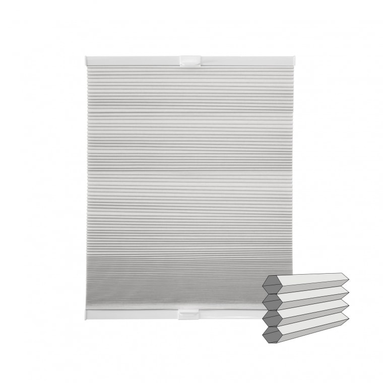 VICTORIA M Wabenplissee | verdunkelnd, 70 x 130 cm, weiß