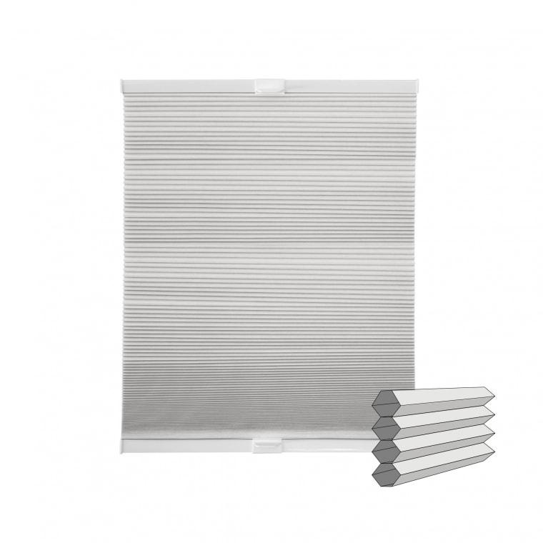 VICTORIA M Wabenplissee   verdunkelnd, 80 x 130 cm, weiß