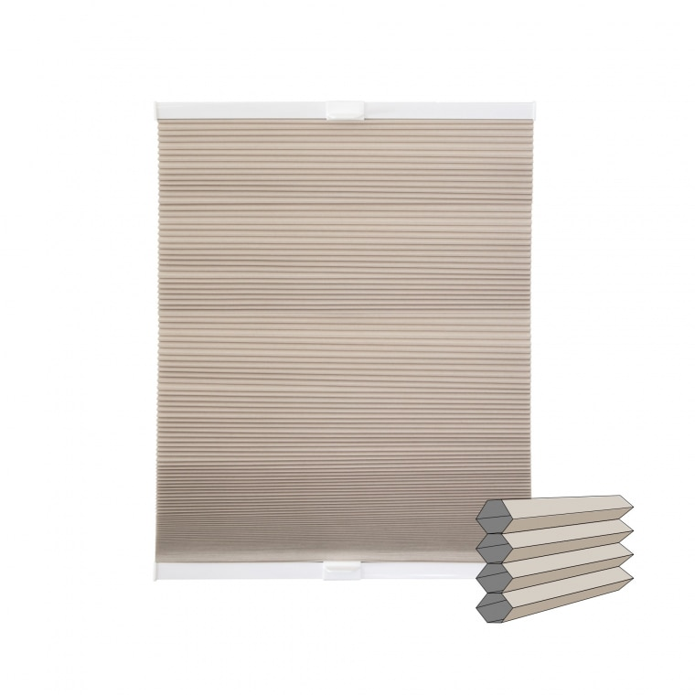 VICTORIA M Wabenplissee | verdunkelnd, 60 x 130 cm, beige