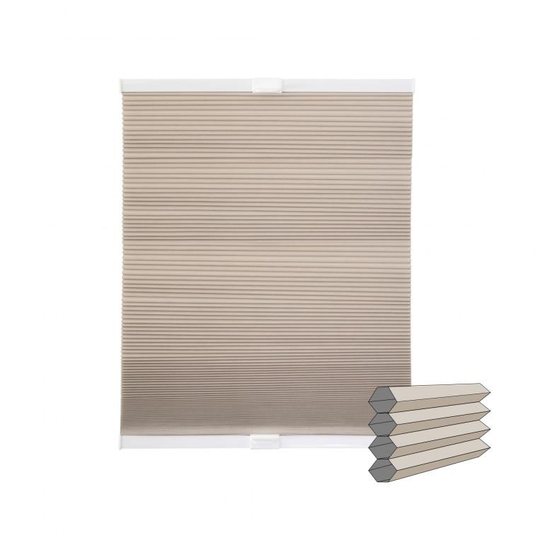VICTORIA M Wabenplissee   verdunkelnd, 100 x 240 cm, beige