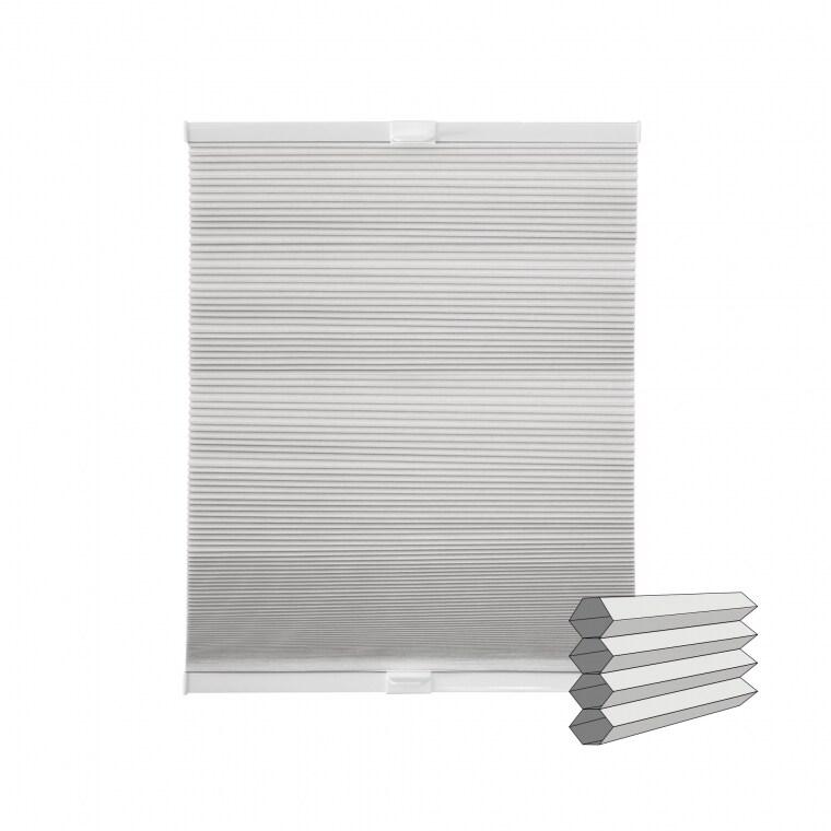 VICTORIA M Klemmfix Wabenplissee | verdunkelnd, 40 x 130 cm, weiß