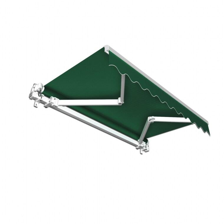 JAROLIFT Gelenkarmmarkise Basic 300 x 250cm, Stoff grün Uni
