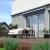 JAROLIFT Gelenkarmmarkise Basic 350 x 300cm, Stoff blau Uni