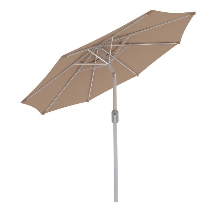 Paramondo interpara Sonnenschirm 3,5m (rund / creme) / Gestell (silber)