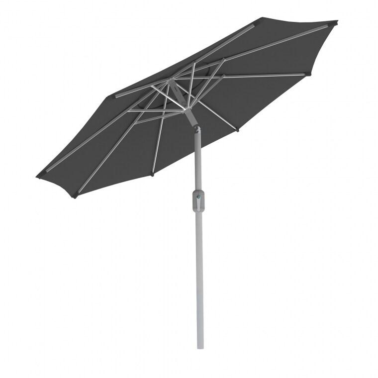 Paramondo interpara Sonnenschirm 3,5m (rund / grau) / Gestell (silber)