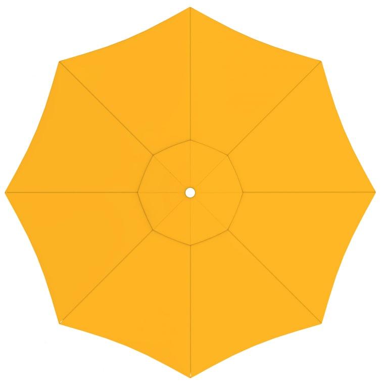 paramondo Sonnenschirm Bespannung für interpara Sonnenschirm (3,5m / rund), gelb