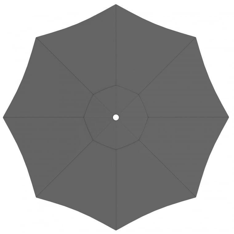paramondo Sonnenschirm Bespannung für interpara Sonnenschirm (3,5m / rund), grau