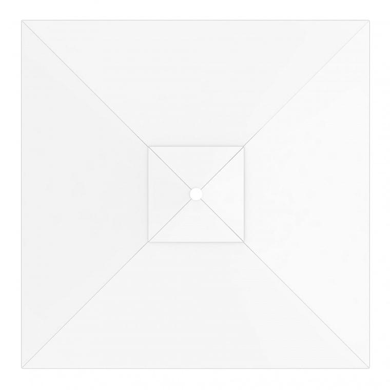 paramondo Sonnenschirm Bespannung für interpara Sonnenschirm (3x3m / quadratisch), weiß