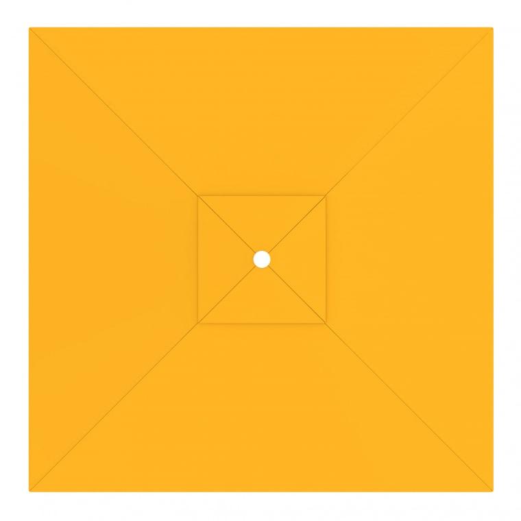 paramondo Sonnenschirm Bespannung für interpara Sonnenschirm (3x3m / quadratisch), gelb
