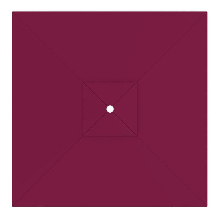 paramondo Sonnenschirm Bespannung für interpara Sonnenschirm (3x3m / quadratisch) bordeaux