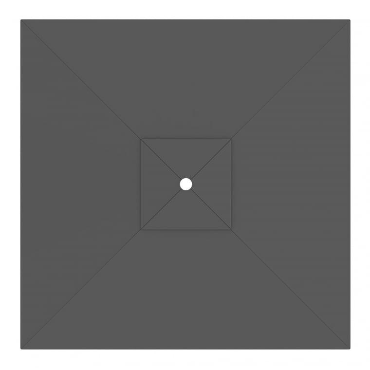 paramondo Sonnenschirm Bespannung für interpara Sonnenschirm (3x3m / quadratisch), grau