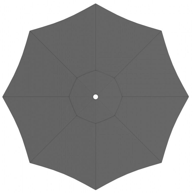 paramondo Sonnenschirm Bespannung für paragrandi Gartenschirm / Großschirm (5m / rund), grau