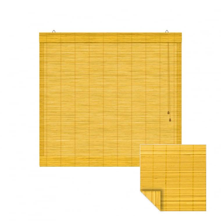 VICTORIA M Klemmfix Bambus-Raffrollo 130 x 220cm, bambus