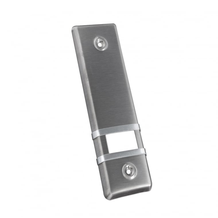 JAROLIFT Design Aluminium-Abdeckplatte für Gurtwickler / LA: 185mm / edelstahl