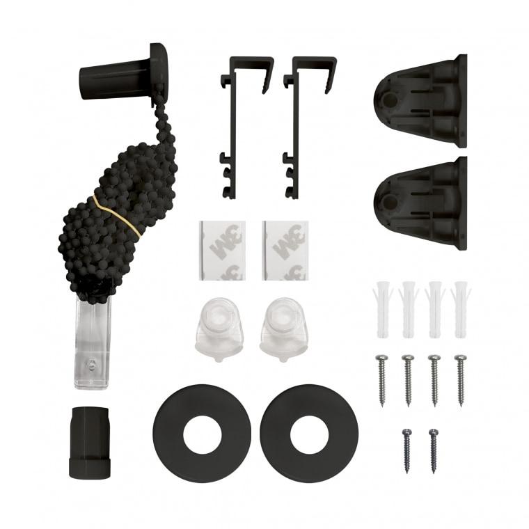 VICTORIA M Ersatzteil-Set komplett Klemmfix Doppelrollo, schwarz