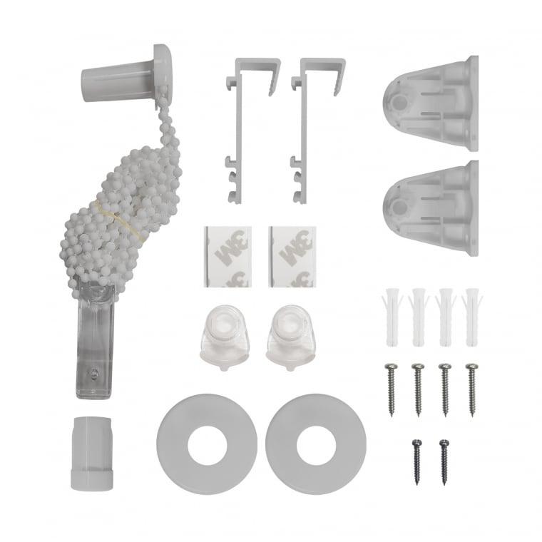 VICTORIA M Ersatzteil-Set komplett Klemmfix Doppelrollo, grau