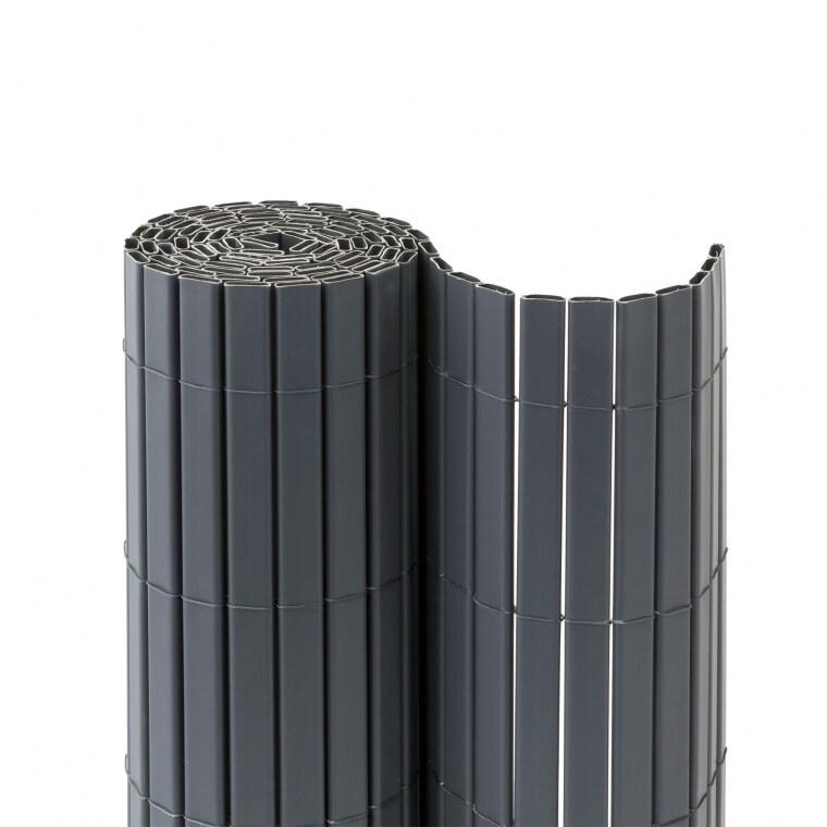 JAROLIFT Premium PVC Sichtschutzmatte 90 x 500cm, grau