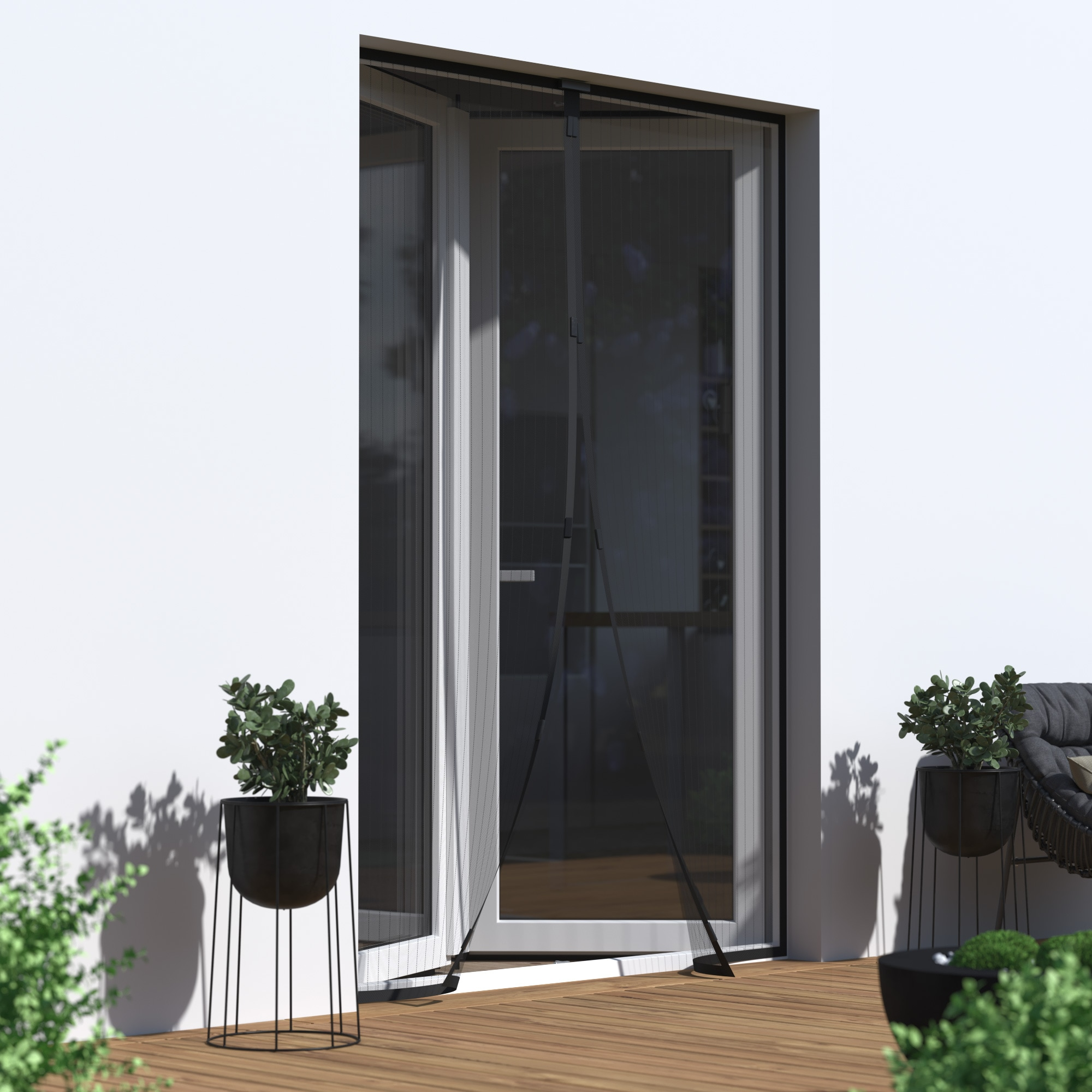 fliegengitter magnetvorh nge f r t ren. Black Bedroom Furniture Sets. Home Design Ideas