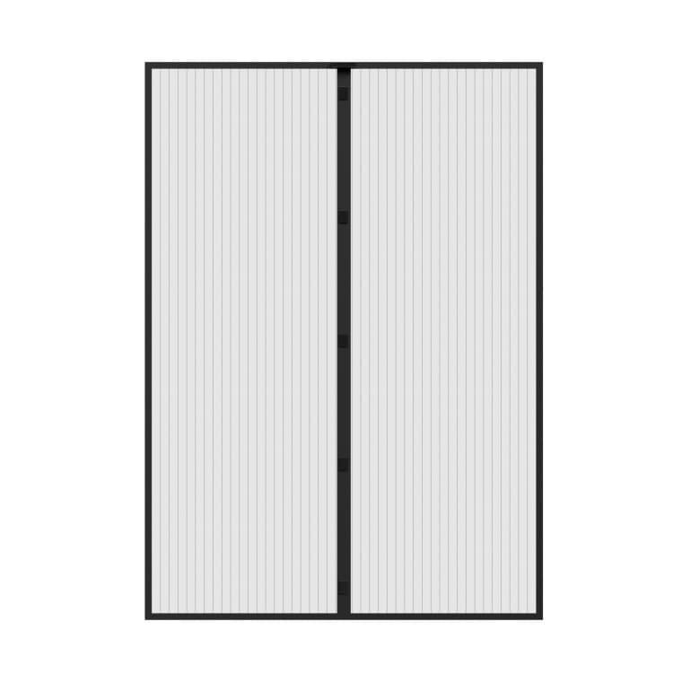 JAROLIFT Fliegengitter Magnetvorhang für Türen 110x220cm, schwarz