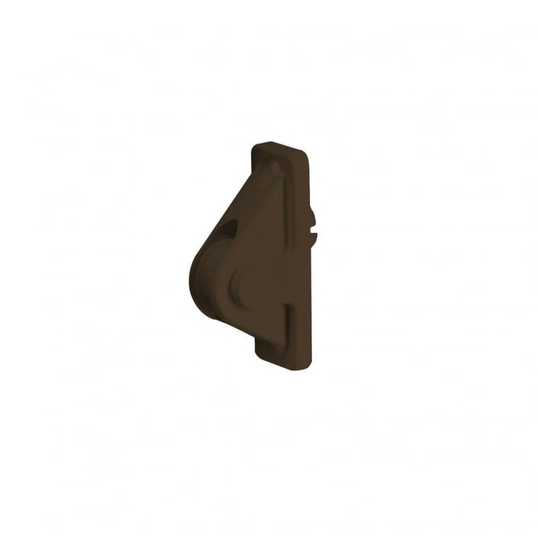 JAROLIFT Schnurführung bis 5mm Schnur, braun ohne Spiralfeder