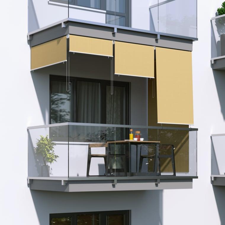 JAROLIFT Außenrollo - Senkrechtmarkise | freihängend, 180 x 140cm, sand