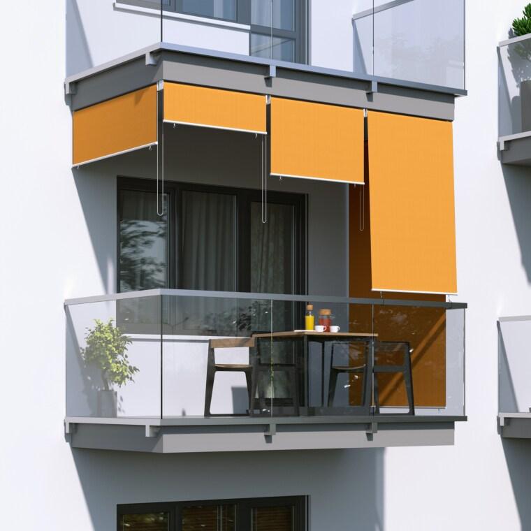 JAROLIFT Außenrollo / Senkrechtmarkise 120 x 240cm, orange