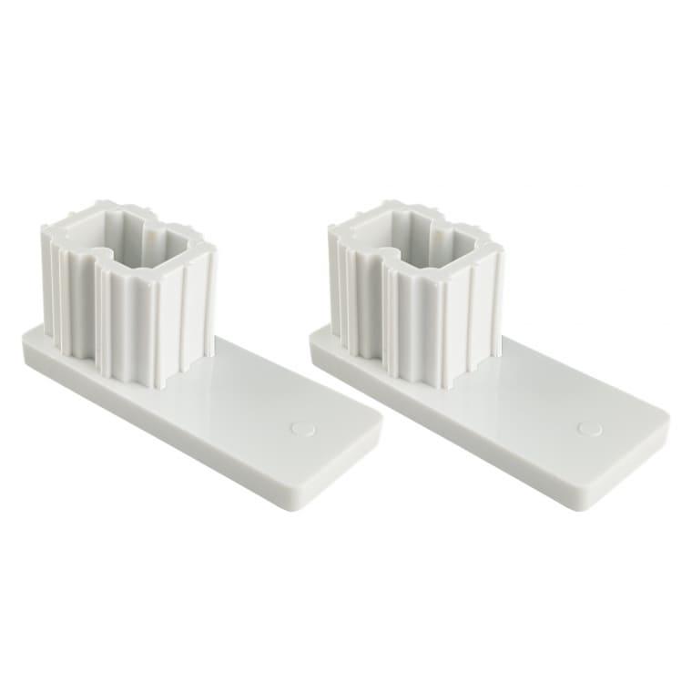 JAROLIFT Verschlusskappe für Rollladen-Führungsschienen PP 53 (53 x 22 mm)   2er Set, weiß