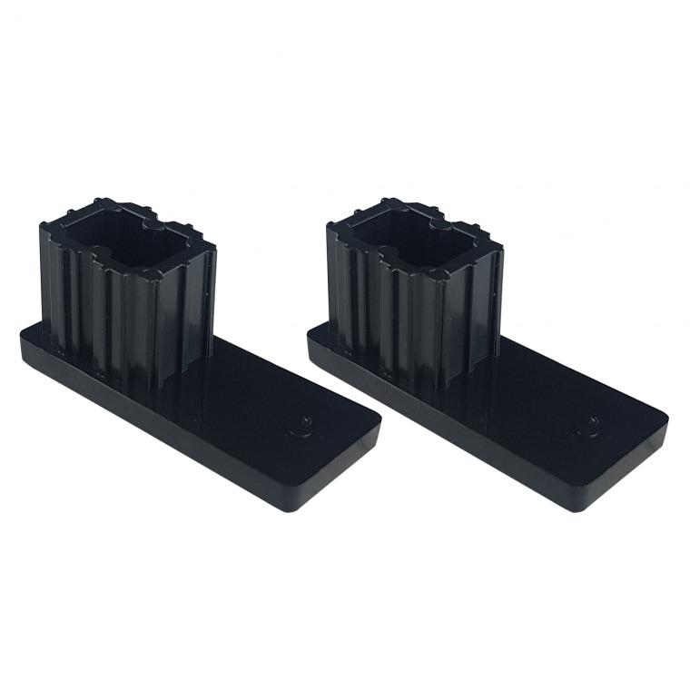 JAROLIFT Verschlusskappe für Rollladen-Führungsschienen PP 53 (53 x 22 mm) | 2er Set, schwarz