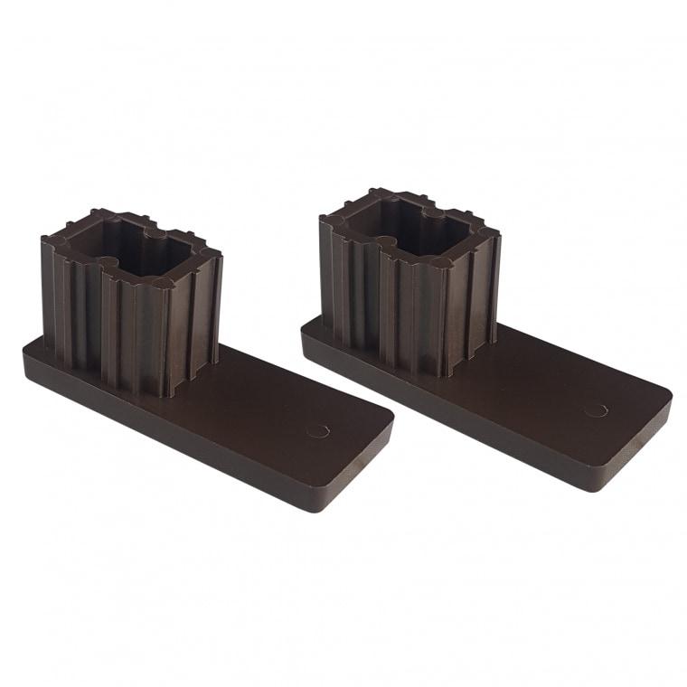 JAROLIFT Verschlusskappe für Rollladen-Führungsschienen PP 53 (53 x 22 mm) | 2er Set, braun