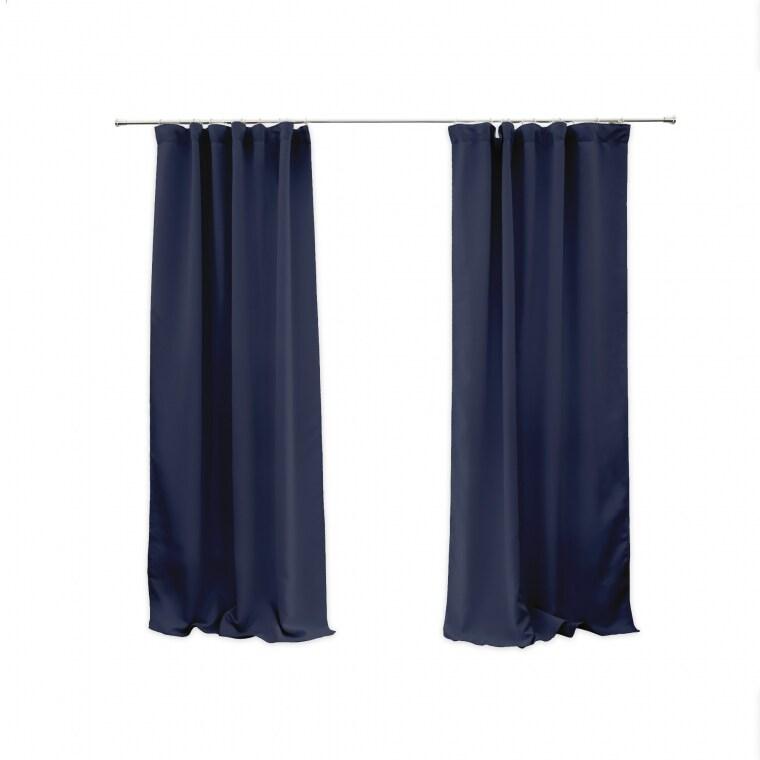VICTORIA M Aurora Vorhang mit Kräuselband | verdunkelnd 140 x 245cm, blau