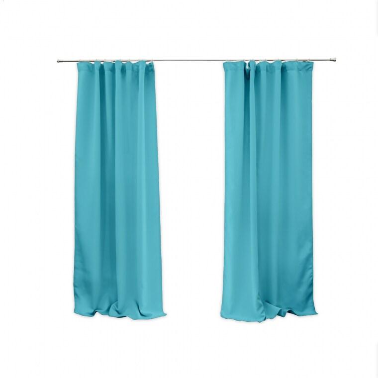 VICTORIA M Aurora Vorhang mit Kräuselband   verdunkelnd 140 x 245cm, hellblau   2er Pack