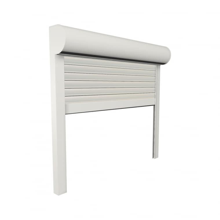 JAROLIFT Vorbaurollladen Premium PVC, Kasten viertelrund, 400 x 400 mm, weiß