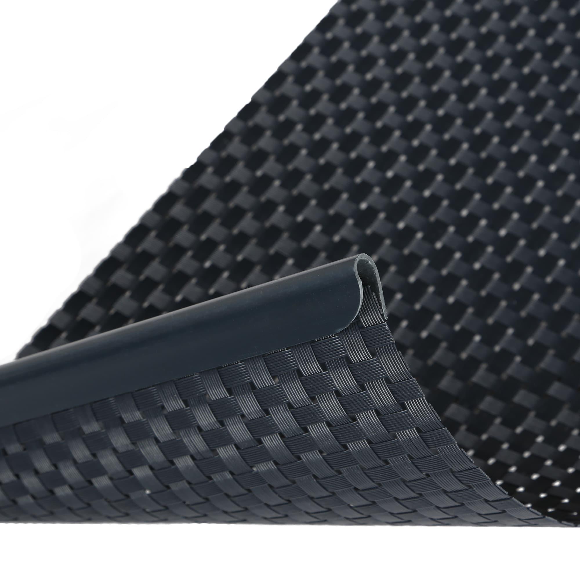 Doppelstabmatten sichtschutz im rattan look kaufen for Sichtschutz stabmattenzaun