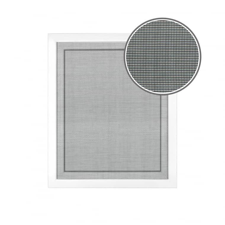 JAROLIFT Fliegengitter für Fenster 130 x 150cm, schwarz