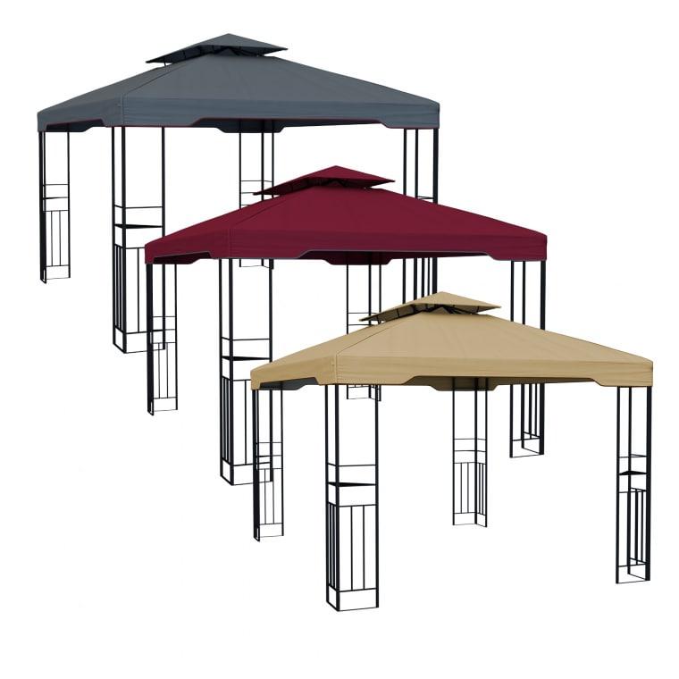 Gartenpavillon metall wasserdicht  Pavillon aus Metall - Aufbau ohne Werkzeug & wasserdicht