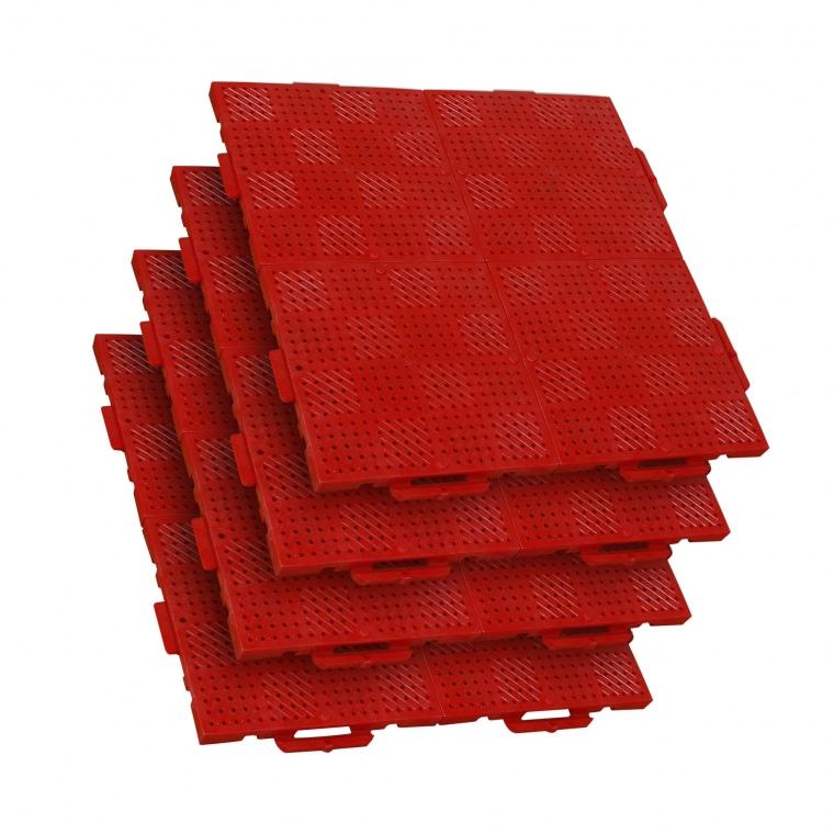 TERRAGUIDE COLOUR Eventboden 1m² | 4 Verlegeeinheiten à 50 x 50cm | 16 Klickfliesen, rot