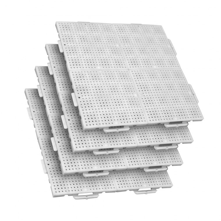TERRAGUIDE COLOUR Eventboden 1m² | 4 Verlegeeinheiten à 50 x 50cm | 16 Klickfliesen, weiß