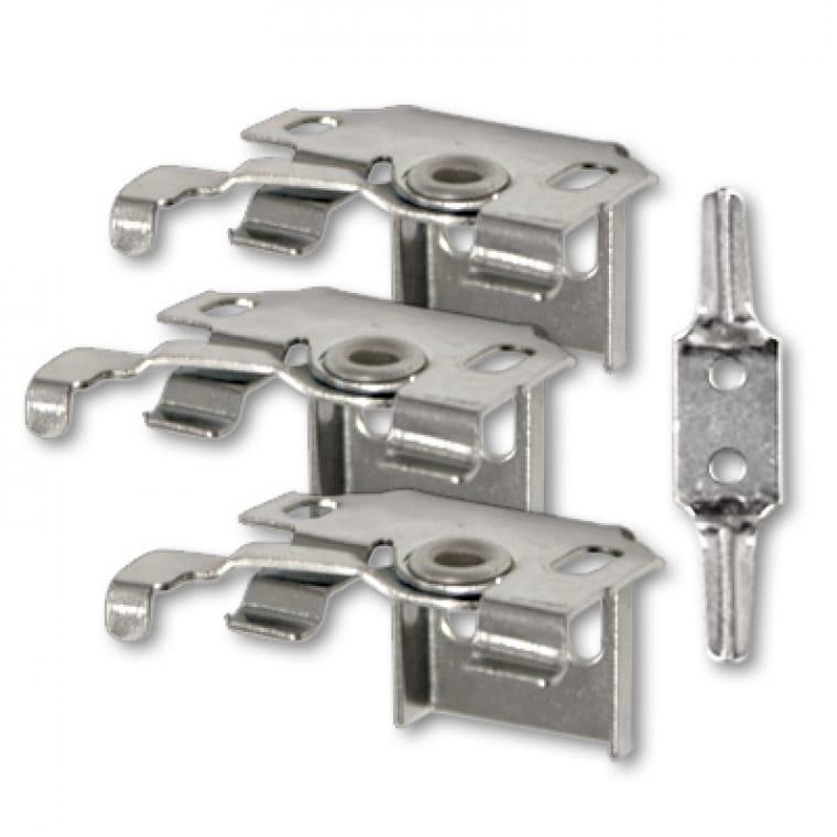 VICTORIA M Aluminium Jalousie Ersatzteil-Set 2 (3 Universalhalter inkl. Kindersicherung)