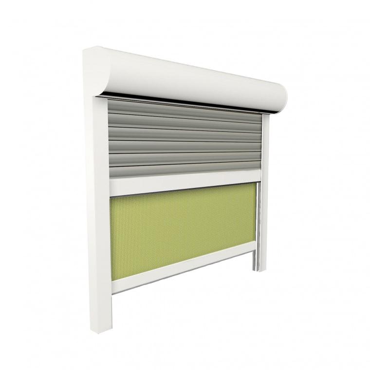 JAROLIFT Vorbaurollladen SiSoRoll PVC, Kasten halbrund, 800 x 800 mm, weiß
