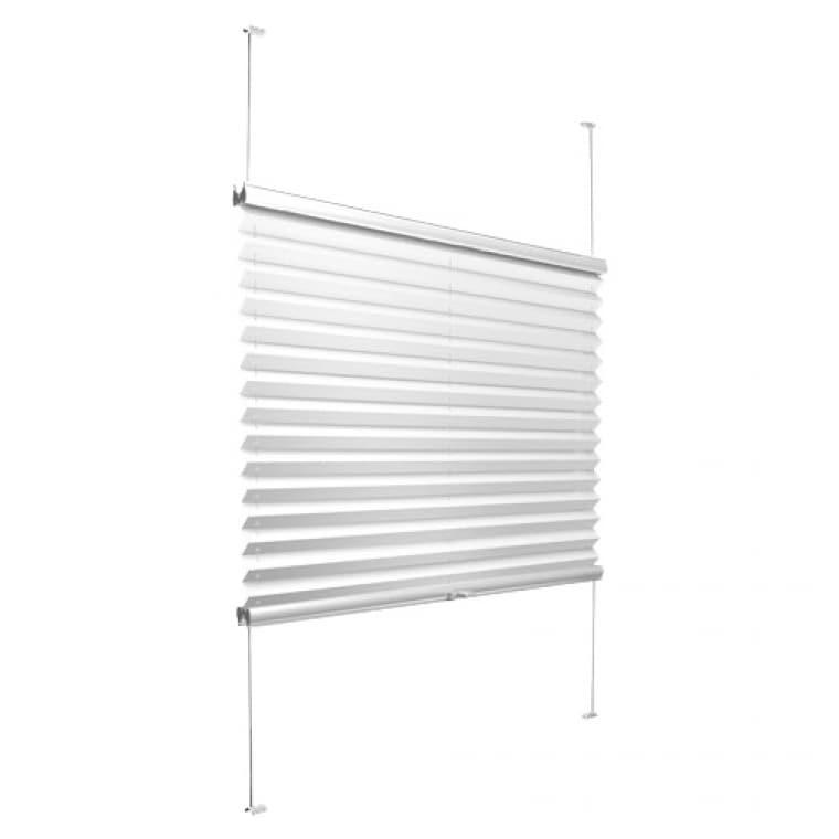 VICTORIA M Plissee mit Seitenführung Delphos VS2, 850 x 1050 mm, weiß