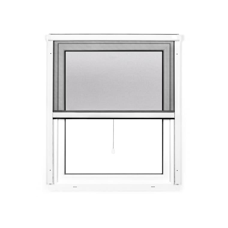 JAROLIFT 4 in 1 Insektenschutzrollo Zanzara | Rahmen: Aluminium | 130 x 160 cm, weiß