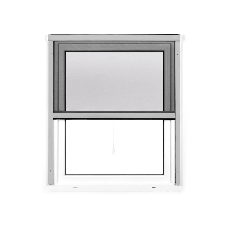 JAROLIFT 4 in 1 Insektenschutzrollo Zanzara | Rahmen: Aluminium | 100 x 160 cm, silber