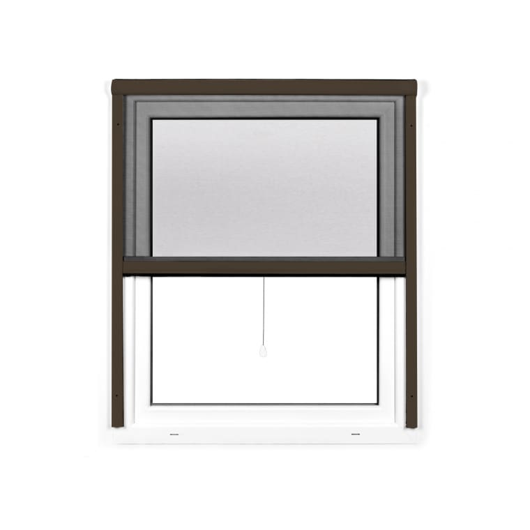 JAROLIFT 4 in 1 Insektenschutzrollo Zanzara | Rahmen: Aluminium | 130 x 160 cm, braun