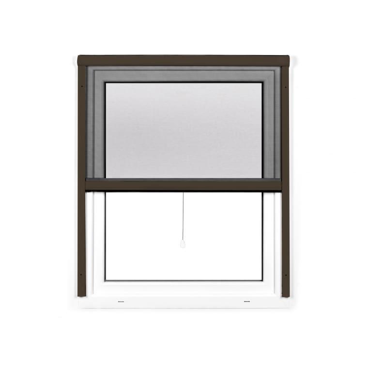 JAROLIFT 4 in 1 Insektenschutzrollo Zanzara | Rahmen: Aluminium | 160 x 180 cm, braun