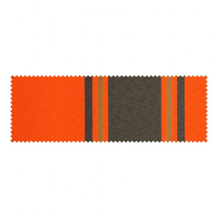 PARAMONDO Stoffmuster für Klemmmarkise - Balkonmarkise JAM | Stoff: Multi, orange