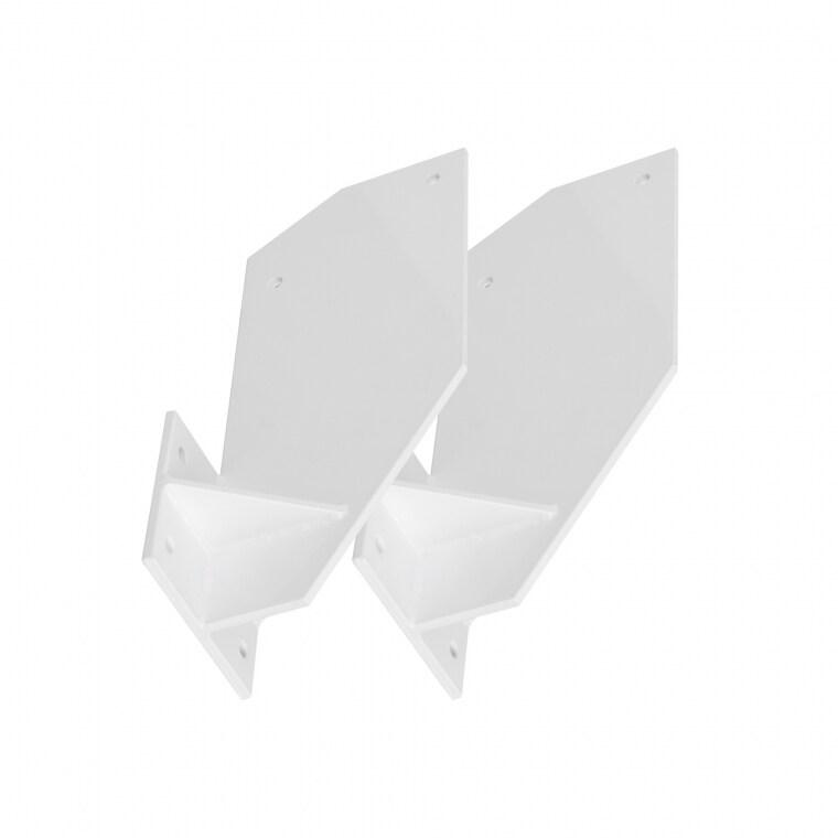 PARAMONDO Dachsparrenhalterung für Kassettenmarkise Curve   weiß, 2er Set