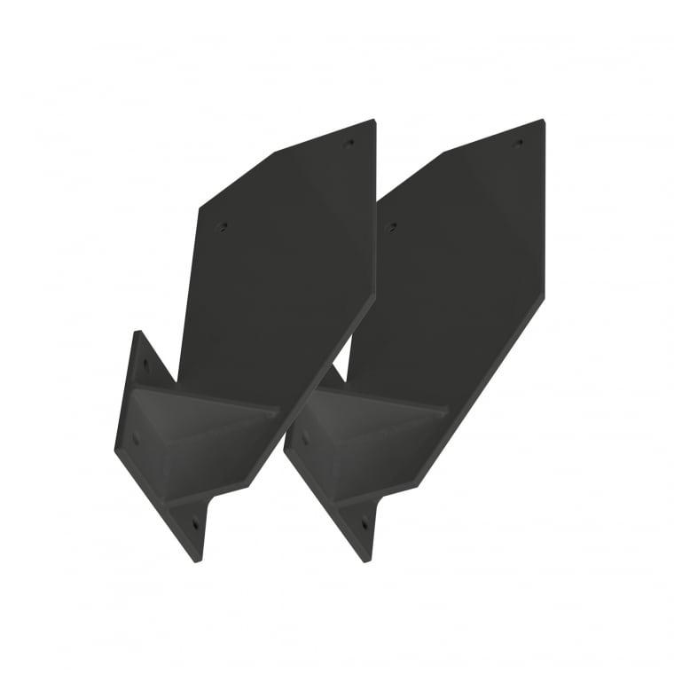 PARAMONDO Dachsparrenhalterung für Kassettenmarkise Curve | anthrazit, 2er Set