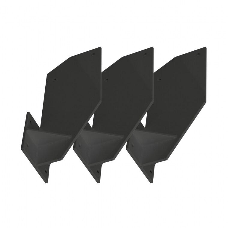 Paramondo Dachsparrenhalterung für Kassettenmarkise Curve |  anthrazit, 3er Set